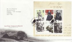 2005-02-24 Jane Eyre Stamps M/S Haworth FDC (77562)