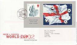 2002-05-21 World Cup Football M/S Wembley FDC (77576)