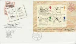 1988-09-27 Edward Lear M/S Stamps London N22 FDC (77587)