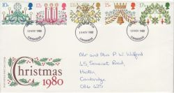 1980-11-19 Christmas Stamps Cambridge FDC (77692)