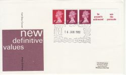 1980-01-16 Coil Stamps Windsor FDC (77693)