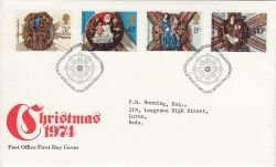 1974-11-27 Christmas Stamps Bethlehem FDC (78011)