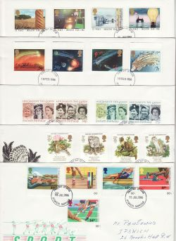 1986 Bulk Buy x9 FDC From 1986 Ipswich Pmks (78059)