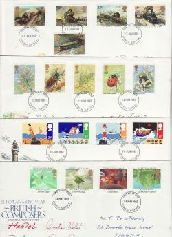 1985 Bulk Buy x8 FDC From 1985 Ipswich Pmk (78061)