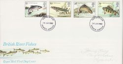 1983-01-26 River Fish Stamps Ipswich FDC (78065)