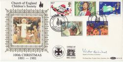 1981-11-18 Christmas Benham Signed FDC (78096)
