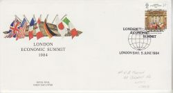 1984-06-05 London Economic Summit London SW1 FDC (78110)