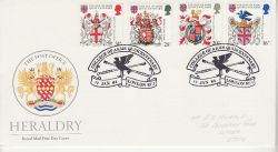 1984-01-17 Heraldry Stamps London EC4 FDC (78112)