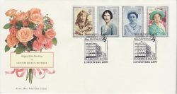 1990-08-02 Queen Mother Stamps London SW1 FDC (78113)