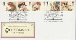 1984-11-20 Christmas Stamps Lutterworth FDC (78114)