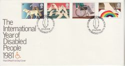 1981-03-25 Year of Disabled Stamps Le Court Petersfield FDC (781