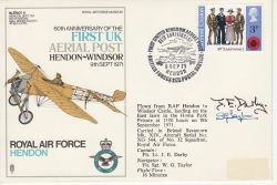 1971-09-09 RAF Hendon Flown Signed Cover (78125)