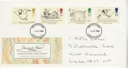 1988-09-06 Edward Lear Stamps London FDC (78169)