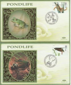2001-07-10 Pondlife Stamps Set of 4 Benham FDC (78197)