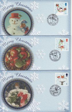 2001-11-06 Christmas Stamps Set of 5 Benham FDC (78202)