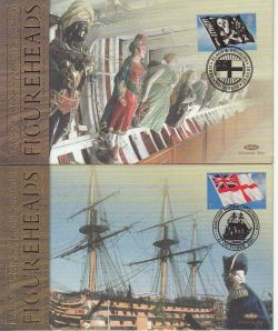 2001-10-22 Flags and Ensigns Booklet Stamps x2 FDC (78203)