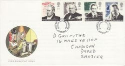 1995-09-05 Communications Stamps Carmarthen FDC (78248)