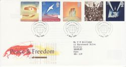 1995-05-02 Peace and Freedom Stamps London SW FDC (78263)
