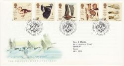 1996-03-12 Wildfowl and Wetlands Slimbridge FDC (78276)