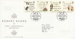 1996-01-25 Robert Burns Stamps Bureau FDC (78283)