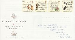 1996-01-25 Robert Burns Stamps Used on 29th Souv (78285)