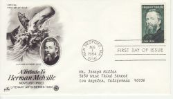1984-08-01 USA Herman Melville Stamp FDC (78465)
