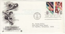 1984-05-04 USA Olympic Games Stamps FDC (78509)