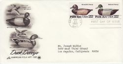 1985-03-22 USA Folk Art Duck Stamps FDC (78515)
