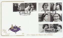 2006-04-18 Queens 80th Birthday Stamps Crathie FDC (78521)