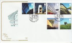 2006-06-20 Modern Architecture Stamps Birmingham FDC (78523)