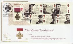 2006-09-21 Victoria Cross Stamps M/S Whitehall FDC (78527)