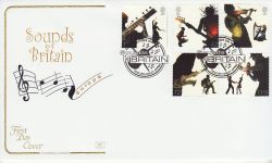 2006-10-03 Sounds of Britain Fiddlers Hamlet FDC (78528)