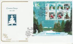 2006-11-07 Christmas Stamps M/S York FDC (78530)