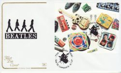 2007-01-09 Beatles Stamps M/S Star St Liverpool FDC (78533)