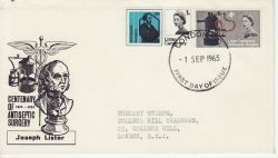 1965-09-01 Lister Stamps London FDC (78552)