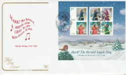 2007-11-06 Christmas Angels M/S Christmas Common FDC (78562)