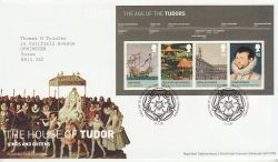 2009-04-21 House of Tudor Stamps M/S T/House FDC (78569)