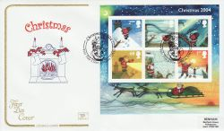 2004-11-02 Christmas M/S Yule Tide Close FDC (78584)