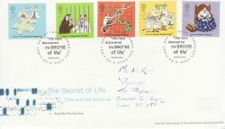 2003-02-25 Secret of Life DNA Stamps Cambridge FDC (78606)