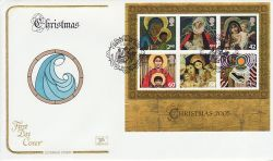 2005-11-01 Christmas Stamps M/S Wisemans Bridge FDC (78652)