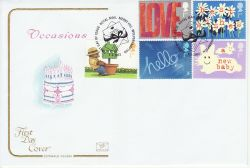 2002-03-05 Occasions Greetings Stamps Merry Hill FDC (78677)