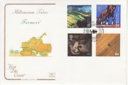 1999-09-07 Farmers Tale Stamps Laxton Newark FDC (78690)