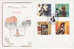 1999-04-06 Settlers Tale Stamps Plymouth FDC (78697)