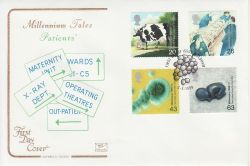 1999-03-02 Patients Tale Stamps Oldham FDC (78698)