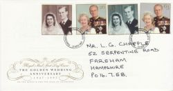 1997-11-13 Golden Wedding Stamps Fareham FDC (78887)
