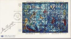 1967-11-17 United Nations Chagall Window M/Sheet FDC (79018)