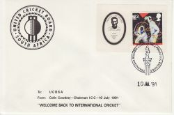 1991-07-10 United Cricket Board South Africa Env (79272)