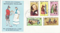 1979-08-27 Togo Rowland Hill Stamps FDC (79291)