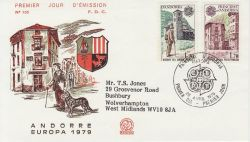 1979-04-28 Andorra Europa Stamps FDC (79309)