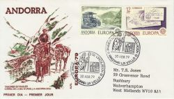 1979-04-30 Andorra Europa Stamps FDC (79313)